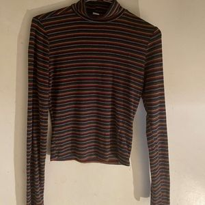Garage striped half turtleneck